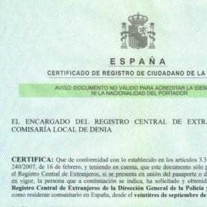 NIE Certificate
