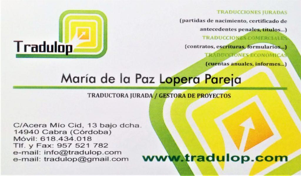 Tradulop Certified Translator